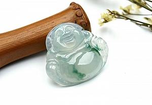 Wonderful Scattered Flower Jade Buddha Pendant