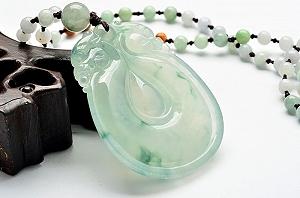 Charming Scattered Flower Jade Ruyi Pendant