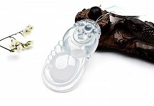 Rare Noble Ice Type Jade Ruyi Pendant