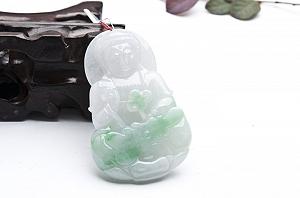 Wonderful Green Color Jade Buddha Pendant