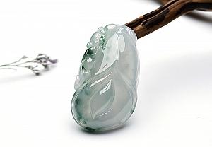 Wonderful Scattered Positive Green Color Jade Pendant