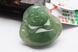Wonderful Oil Blue Color Jade Buddha Pendant