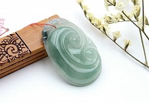 Wonderful Oil Blue Color Jade Ruyi Pendant