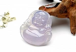 Wonderful Purple Color Jade Buddha Pendant