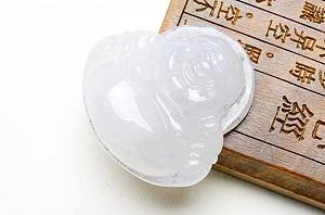 Wonderful Ice White Color Jade Buddha Pendant