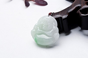 Wonderful Light Blue Color Jade Buddha Pendant